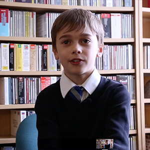 More from Jake, Chorister, age 9