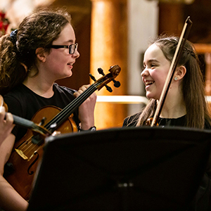 Young musicians at St Mary's Music School, Edinburgh