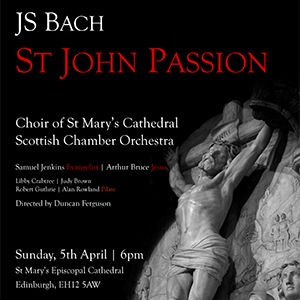 Flyer for Bach - St John Passion