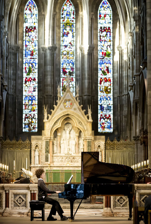 Pianist in St Mary's Cathedral