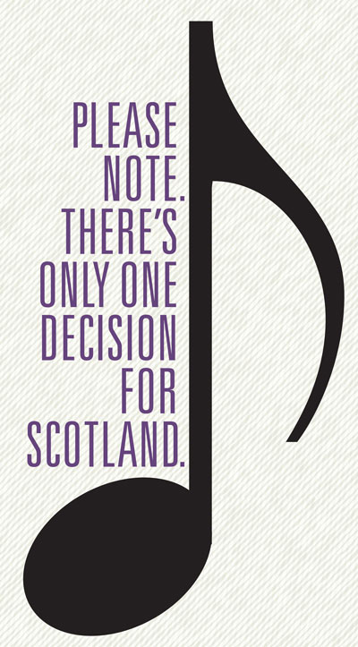 Please note.  There's only one decision for Scotland.
